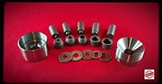 """Big Self Centering Coin Ring Punch Set, No Spacers Needed, 1/4"""" 3/8"""" 1/2"""" 5/8"""" 3/4"""" Punch Sizes"""