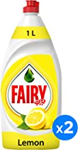 Fairy Lemon Dish Washing Liquid Soap, 1 Litre (Pack of 2)