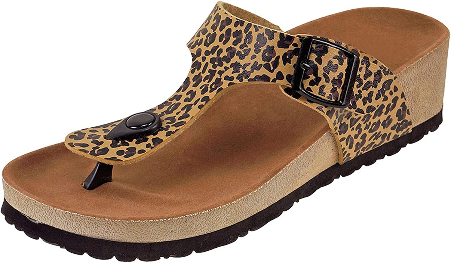 Cambridge Select Women's Thong Toe Slip On Slide Wedge Sandal