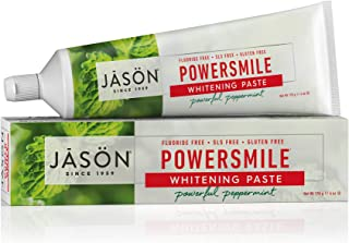 JASON Powersmile Whitening Fluoride-Free Toothpaste, 6 Ounce Tubes (Pack of 4)