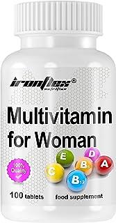 IronFlex Multivitamin for Women Förpackning om 1 x 100 Tabletter - Komplex av Vitaminer och Mineraler för Kvinnor med Acai...