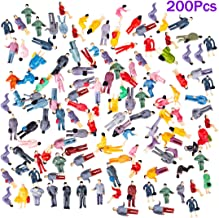 Yamix 200Pcs 1:87 HO Scale People Figures, Model People Model Trains Park Street Architectural Passenger People Figure