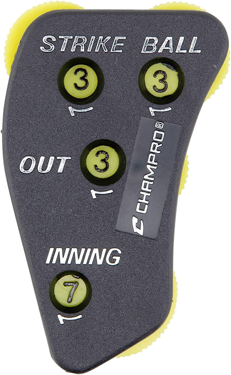 Bargain Special price for a limited time sale Champro A042P Umpire Indicator with 4 Dials Yellow Optic Black