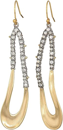 Crystal Encrusted Freeform Drop Earrings