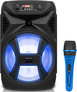 $61 » Sponsored Ad - Technical Pro 500 Watts Portable 8 Inch Bluetooth Speaker w/Woofer & Tweeter, True Wireless Stereo w/Digita...