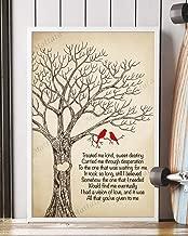 Mattata Decor Gift - Vision of Love Song Lyrics Portrait Poster Print (12