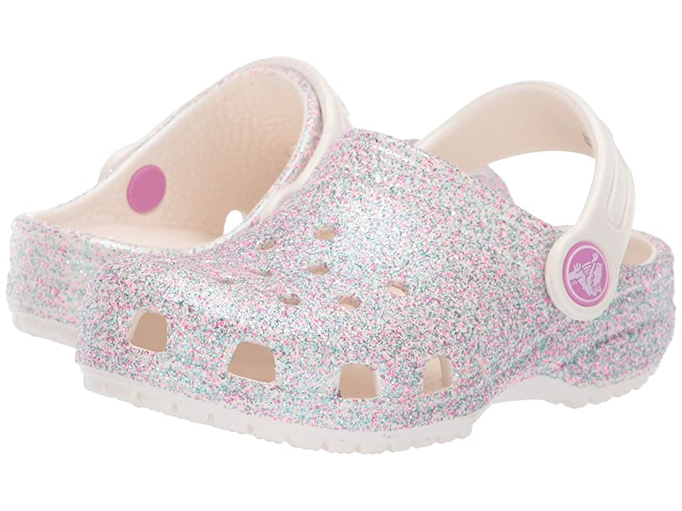 Crocs Kids Classic Glitter Clog (Toddler/Little Kid) (Unicorn Oyster Glitter) Kids Shoes