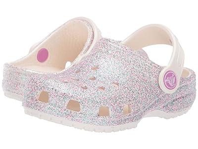 Crocs Kids Classic Glitter Clog (Toddler/Little Kid/Big Kid) (Unicorn Oyster Glitter) Girls Shoes