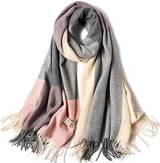 Winter Long Soft Warm Tartan Check Scarves Wraps for women cashmereSpinning Tassel Shawl splice Long Stole