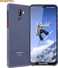 Điện thoại di động Android – Rugged Smartphone Unlocked, OUKITEL Y1000 Drop Proof IP68 Waterproof Cell Phones, Android 9.0 3G Dual SIM 6.1inches Quad Core 2GB+32GB, 3600mAh Battery Fingerprint Face Unlocked Phones (Purple Gray)