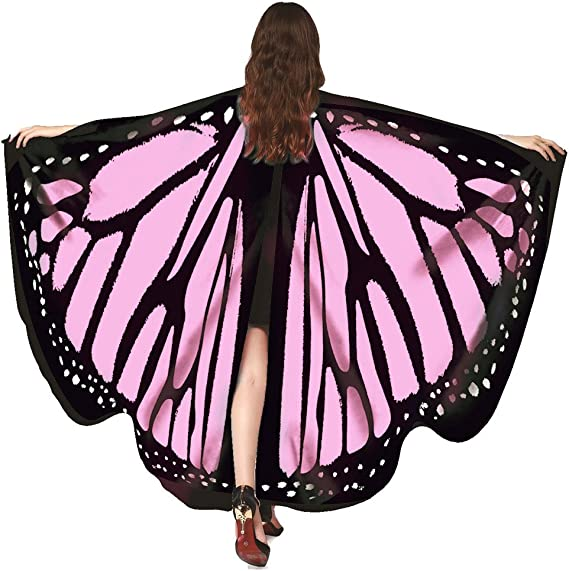 Butterfly Wings shape print Woman/'s Cloak Scarf Shawl Tippet Cape Wrap Amic P2T2