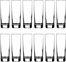 12 x Simpa Highball Tumbler 330ml Capacity Drinking Glasses Straight Side Design – Great Value Box of 12 Glasses – Dishwasher & Freezer Safe