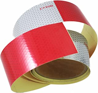 ABN Trailer Conspicuity Tape DOT-C2 Approved 2in X 10ft Reflective Red/White Tape – Vehicles, Trailers, Boats, Signs