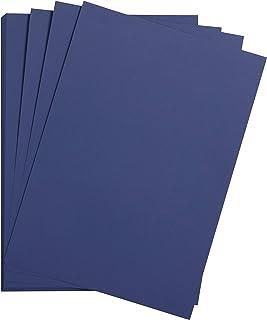 Clairefontaine 975257C Paquet Papier Maya - 25 Feuilles Papier Dessin Lisse Bleu Nuit - A4 21x29,7 cm 185g - Idéal pour le...