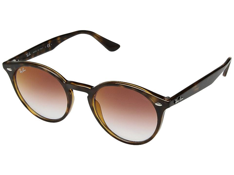 Ray-Ban RB2180 51mm (Havana/Light Red Gradient Mirror) Fashion Sunglasses