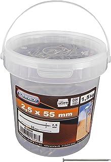 Connex trådpennor 2,5 x 55 mm – 1 500 g – sänkt huvud – förzinkad – förvaring i praktisk hink – För universalanvändning/st...
