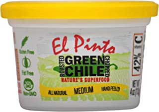 El Pinto Medium Roasted Green Chile Chopped (4 Ounce, 6 Pack)