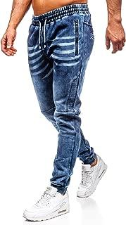 BOLF Pantaloni Jeans Jogger Aderente Stampe Casual Slim Fit Uomo 6F6 Classic