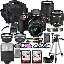 $599 » Nikon D3500 DSLR Camera with AF-P 18-55mm VR Lens + Nikon AF-P 70-300mm f/4.5-6.3G ED Lens + 2pc SanDisk 32GB Memory Cards + Accessory Kit
