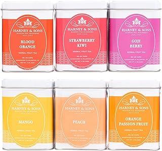 Harney & Sons Fruit Tea Sampler, Includes Six Different Flavors, Orange, 24 Ounce