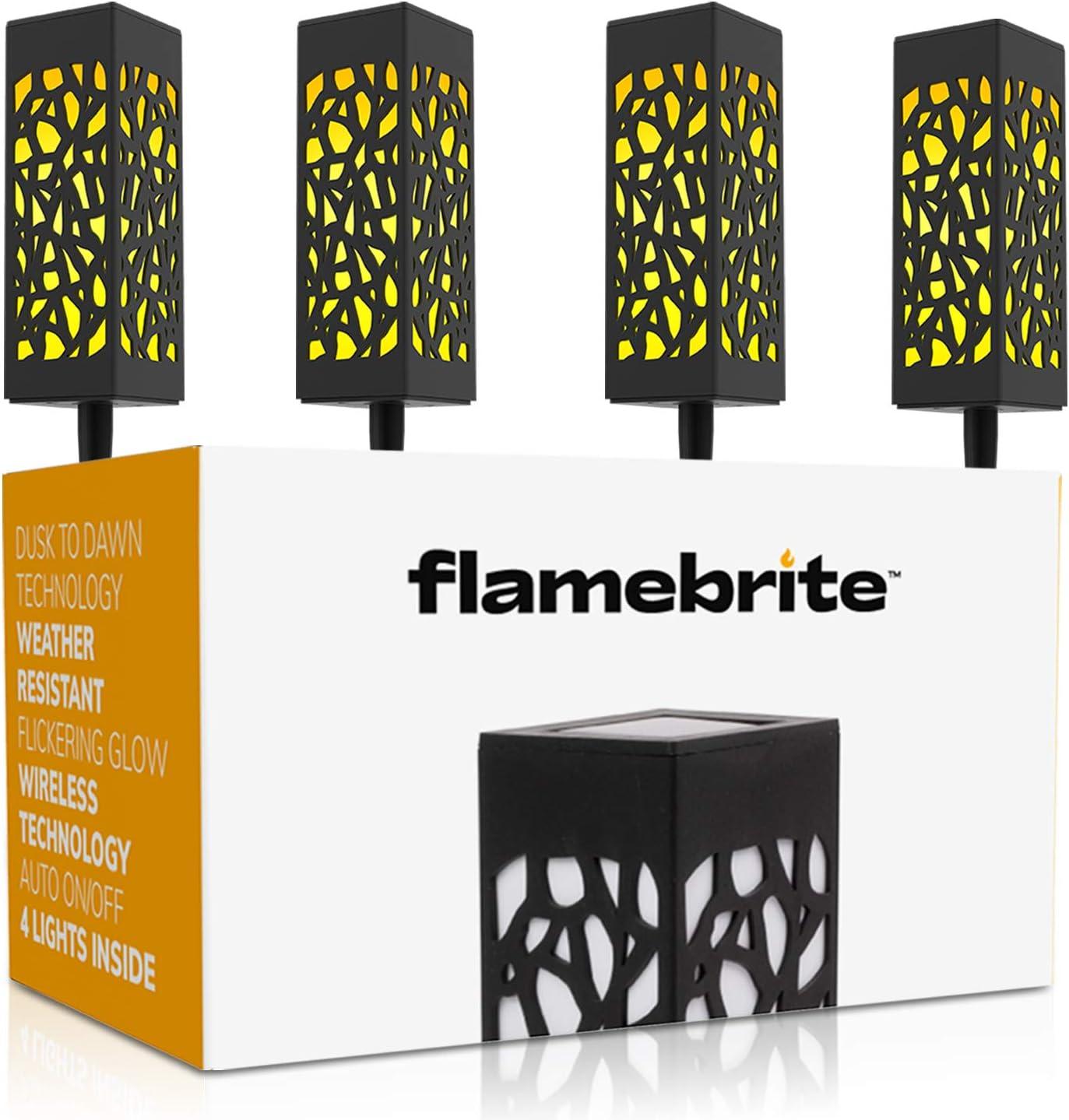 Under blast Department store sales Flamebrite Outdoor Pathway Solar Lan 4 Garden Lights