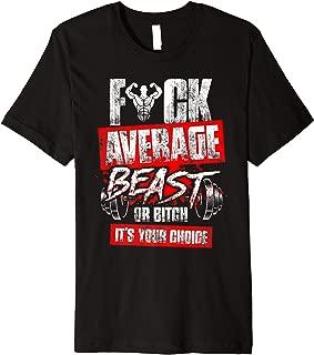 Cuss Word Workout T-Shirt Fuck Average Deadlifting Gym Tee