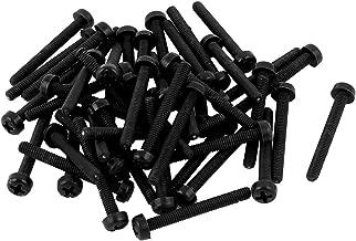 Combination Phillips-Slotted Drive Pan Head Black Metric Electronics-Salon 100pcs M3 x 5mm Nylon Machine Screw