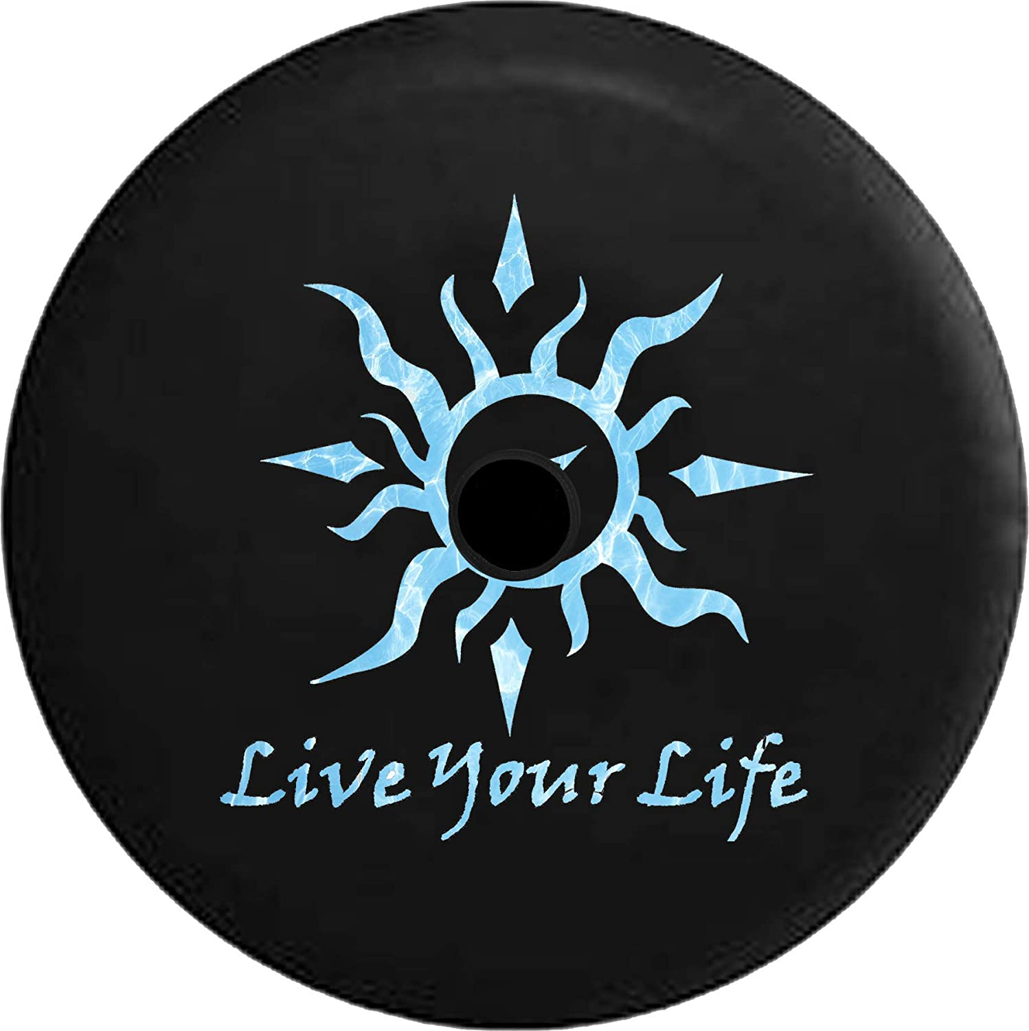 JL 2021 model Spare Sales Tire Cover Live Your Tribal Seal Compass Water Life Sun