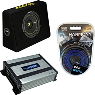 "$239 » Kicker TCWC10 Car Audio CompC 10"" Truck Sub Box Enclosure 44TCWC102 Bundle with Harmony HA-A400.1 Amplifier & Amp Kit"