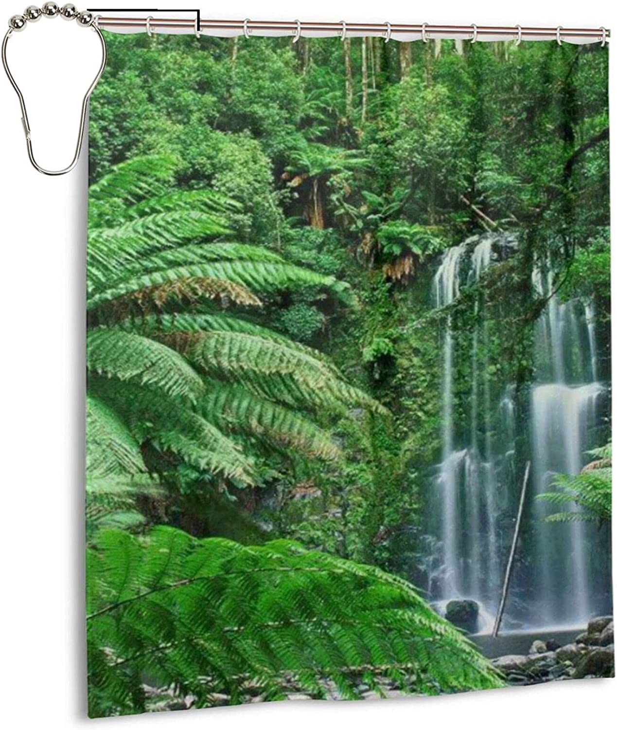 Tropical sold out Forests Bath Shower Waterproof Fabric Curtain In a popularity