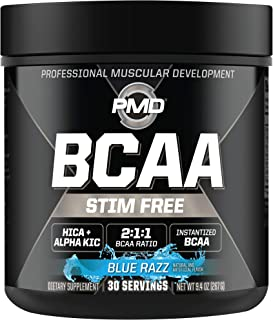 PMD Sports BCAA Stim-Free Amino Acids - Better Workout Performance, Enhanced Recovery, Daily Energy, Muscle Builder, and M...