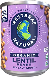 Westbrae Natural Organic Lentils, 15 Ounce (Pack of 12) –  Packaging may vary