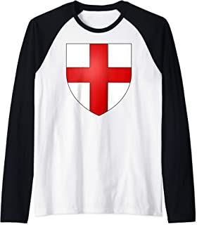 Genoa Coat of Arms Medieval Heraldry t-shirt Raglan Baseball Tee