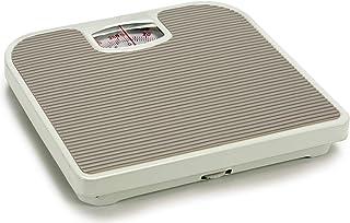 TU TENDENCIA ÚNICA Báscula de baño analógica de Acero con Pintura Epoxi. Superficie Antideslizante. Medidas: 27X4x24cm (Gris)
