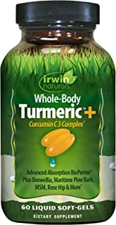 Irwin Naturals Whole-Body Turmeric+ - BioPerine Complex Enhanced Absorption - 60 Liquid Softgels