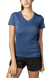L26 LAPASA Camiseta Deportiva de Mujer Manga Corta Tejido S/úper-Absorbente. Uso Casual Ok