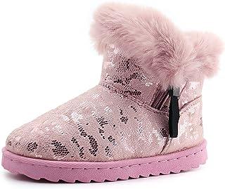 firelli Kids Snow Boots Girls Winter Boots Fur Warm Ankle Booties (Toddler/Little Kids)