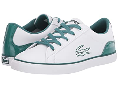 Lacoste Kids Lerond 120 1 CUC (Little Kid) (White/Green) Kid