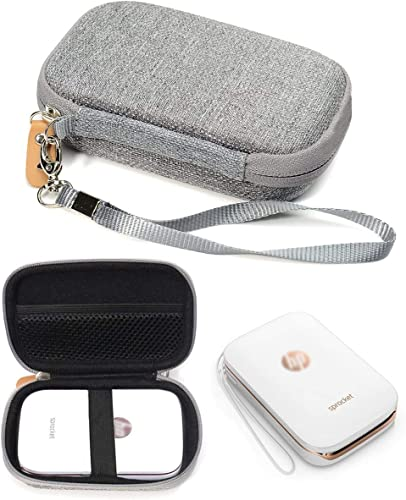 2021 Shockproof Travel Easy Carrying Case for lowest HP Sprocket Portable Photo Printer and Polaroid ZIP Mobile Printer, sale Mesh Pocket for Cable, Printing Paper and other accessories, Gray outlet online sale