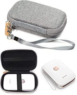 Shockproof Travel Easy Carrying Case for HP Sprocket Portable Photo Printer and Polaroid Zip Mobile Printer, Mesh Pocket f...