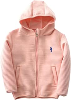 Betusline Kids Boys Girls Full-zips Hooded Jacket, 2-10 Years