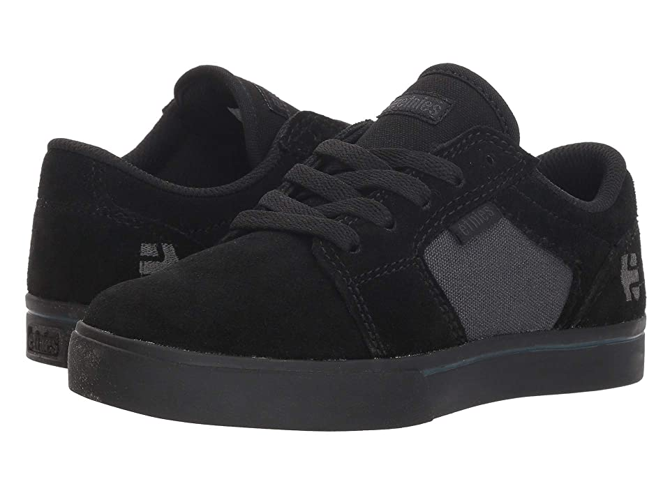 etnies Kids Barge LS (Toddler/Little Kid/Big Kid) (Black/Black/Grey) Boys Shoes