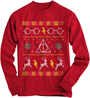 Gnarly Tees Men's Harry Potter Glasses Ugly Christmas Sweater