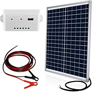 ECO-WORTHY 20W 12V Off Grid Solar Panel Kit, 12V Solar Battery Charger, Suitable for Camping, Fan, Auto Gate Opener, Electric Fence, Chicken Coop, Marine, RV