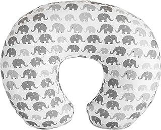 Boppy Microfiber Nursing Pillow Slipcover, Gray Elephants Plaid