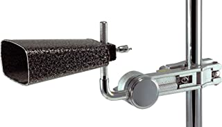 Cowbell Mount with L-Rod (Cowbell not Included) - Cowbell Clamp with Adjustable Length & Angle - Drum Kit Mounting Bracket for Jam Blocks, Tambourine - DRUMTOP CBM-1000