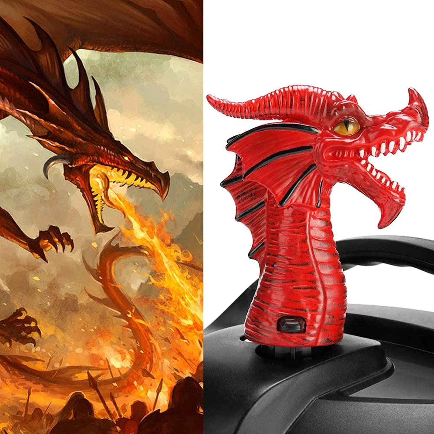 Fire-Breathing Dragon Original Steam Release Accessory Steam Diverter Tool for Instant Pot Pressure Cooker Black+Red Original Steam Release Accessory Cabinets Savior for All Size Kitchen Supplies