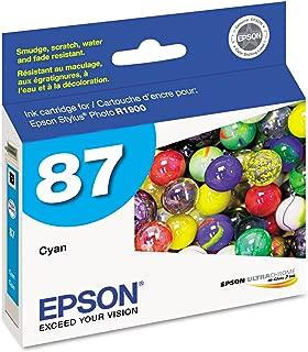 Epson UltraChrome Hi-Gloss 87 Inkjet Cartridge Cyan T087220