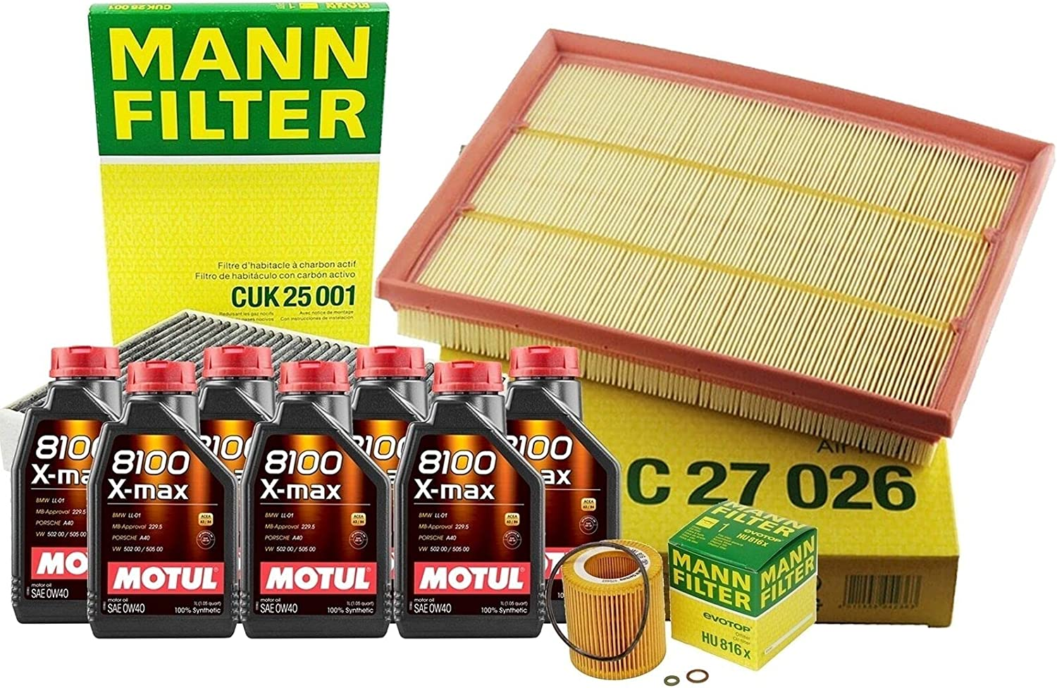 Financial sales sale 7L 8100 XMAX 0W40 Oil Filter Compatible kit F23 F22 Service trend rank with