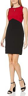 Kasper Womens 10744668 Sleeveless Jewel Neck Sheath Dress with Key Hole Detail Sleeveless Dress